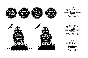 9 Beach House Buoy & Nautical Logos