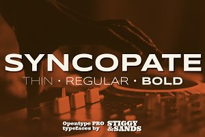 Syncopate Pro Family