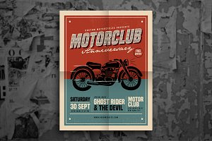 Retro Motorclub Event Flyer