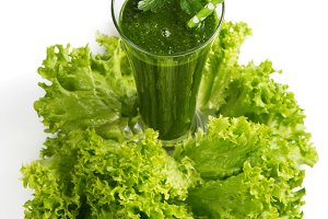 Smoothie from leafy kale