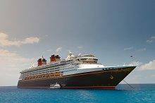 Classic black cruise ship