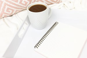 Coffee stock photo | Notebook mockup