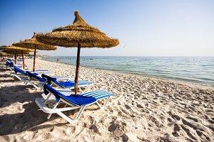 Beach in Port El Kantaoui, Tunisia
