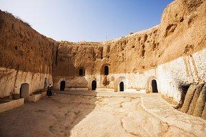 Troglodyte dwelling, Matmata Tunisi