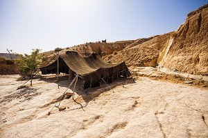 Berber tent in Matmata, Tunisia