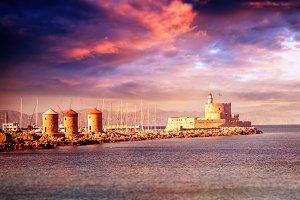 Rhodes port, Greece