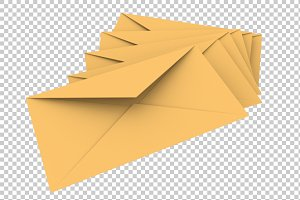 Envelopes - 3D Render PNG