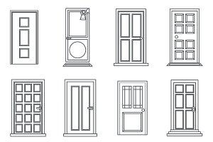 Lineart Old Doors