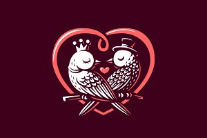 Valentine's Day. Bird love