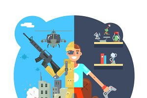 Online shooter gamer