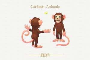 ♥ vector May bug and two chimps