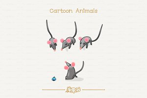 ♥ vector Curious mouses