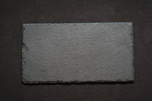 black slate board for serving