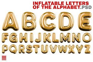 Inflatable letters