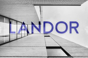 Landor Display Typeface