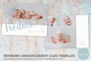 AN016 Newborn Baby Card Announcement