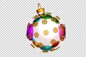 Christmas Ball - 3D Render PNG