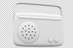 Radio - 3D Render PNG