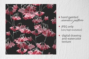 sakura blossom seamless pattern