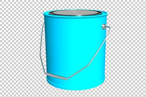 Paint Bucket - 3D Render PNG