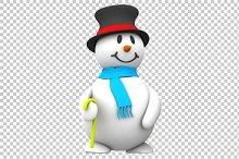Snowman - 3D Render PNG
