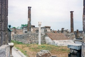 Ancient ruins in Pompeii