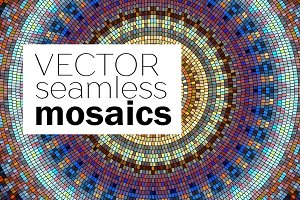 Seamless vector mosaic set