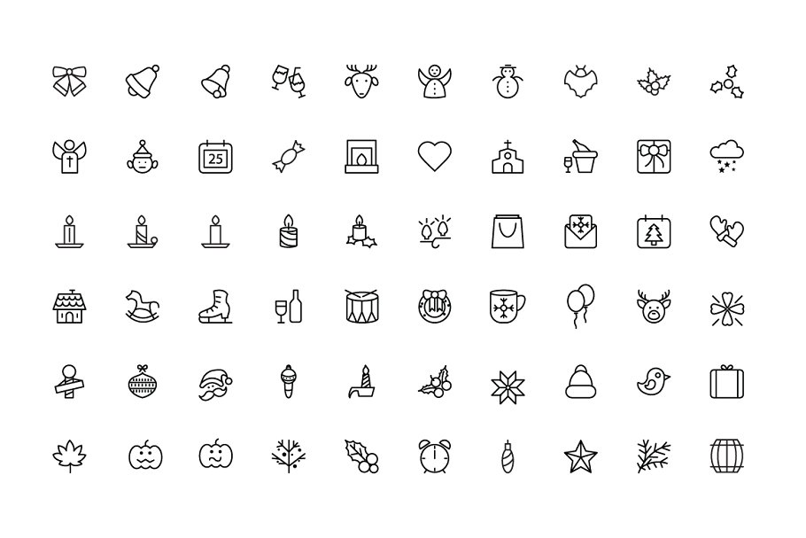 100 Merry Christmas Icons in Christmas Icons - product preview 1