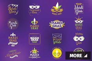 Mardi Gras typography