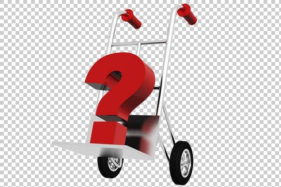 Question Mark- 3D Render PNG
