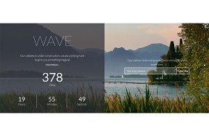 Wave - Multiscroll Coming Soon Theme