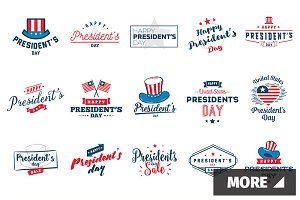 President's day typography