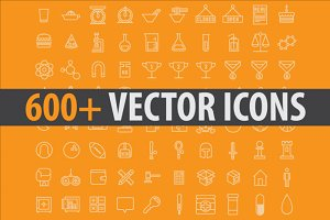 600+ Stroke Vector Icons