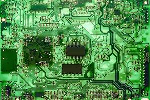 Printed green computer circuit board
