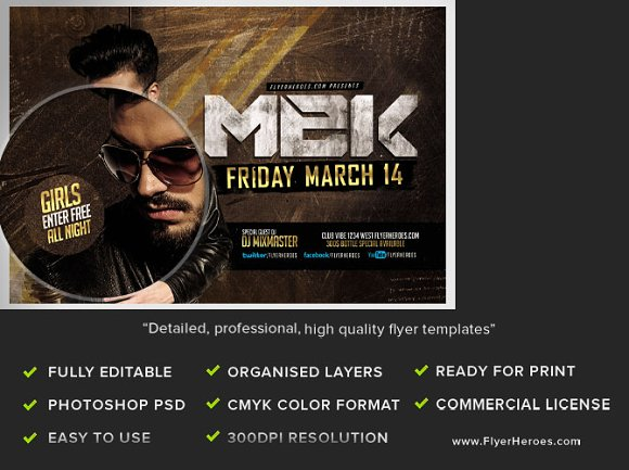 MEK Bar Flyer Template Flyer Templates Creative Market – Bar Flyer Template