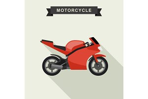 Sport bike flat illustration.
