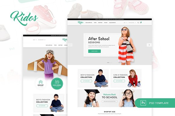 Kidos Kids Clothing ECommerce PSD