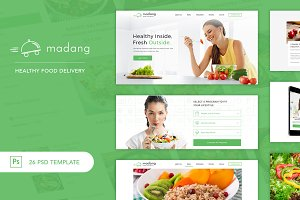 Madang - Healthy Food Delivery PSD