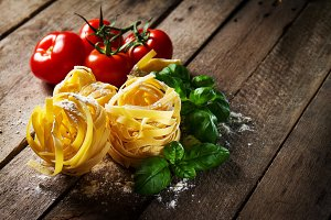 Food Concept. Italian Food. Pasta.