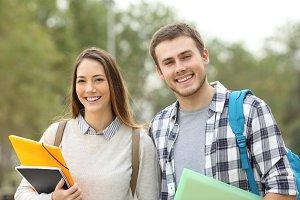 students posing looking at you