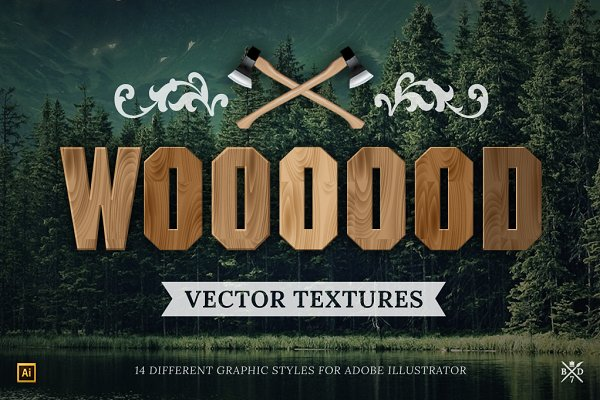 Color Palettes: Basari Design - 14 Wood vector textures
