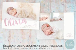 AN017 Newborn Baby Card Announcement