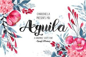 Aquila -Script font