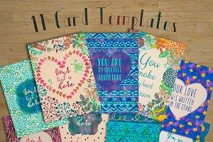 11 Hand Drawn Card Templates
