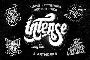 Hand Lettering Vector Pack