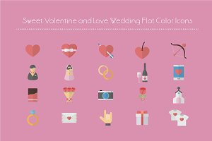 Sweet Valentine and Wedding Icon