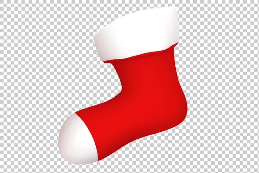 Christmas Stockings Png.Christmas Stocking 3d Render Png