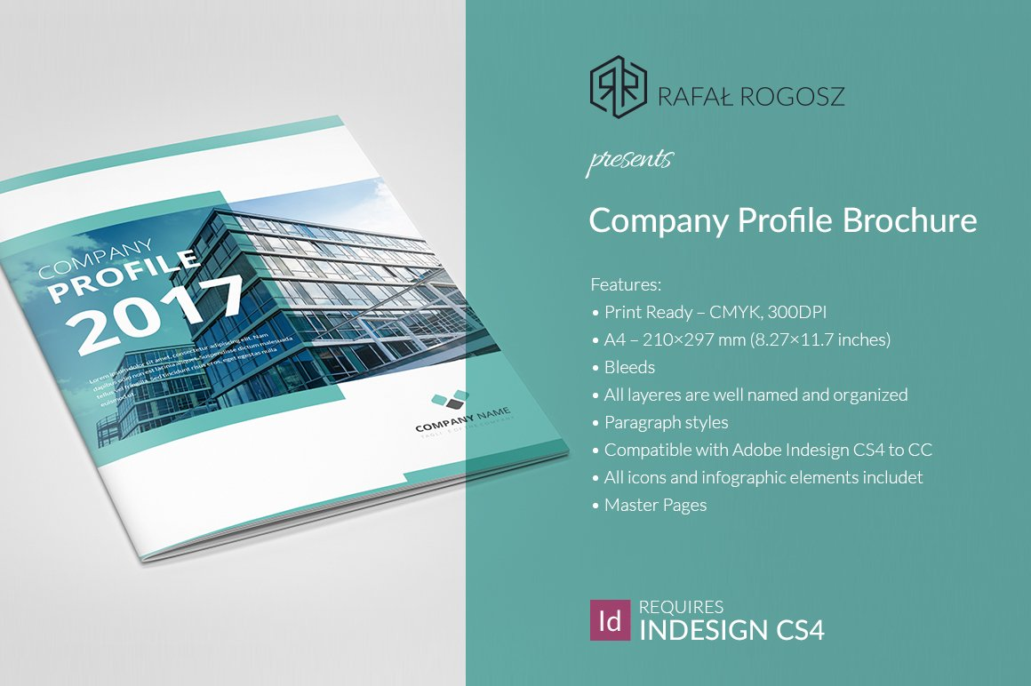 Company profile brochure 2017 brochure templates for Company brochure template