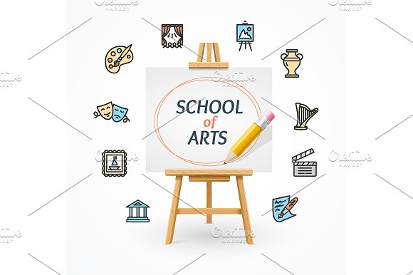 Art School Concept With Easel