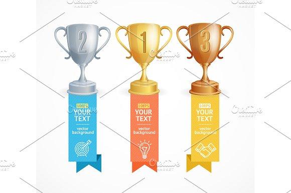 Award Cup Menu Infographic